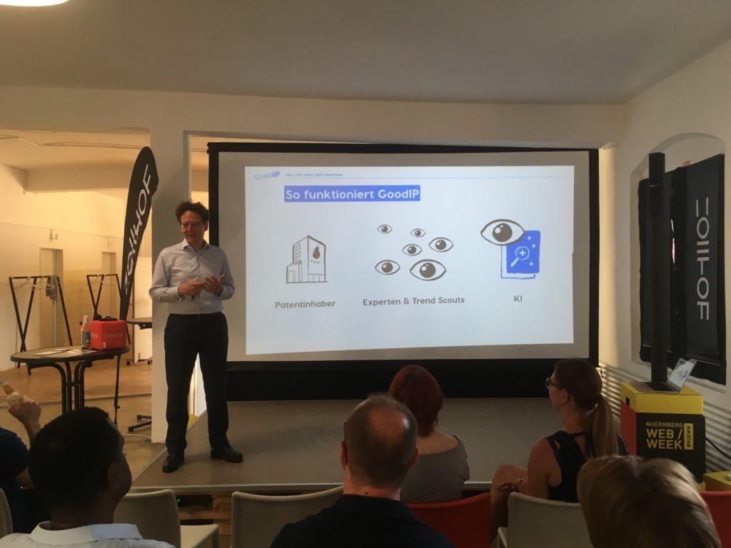 Eindruck vom Meetup: Präsentation von GoodIP